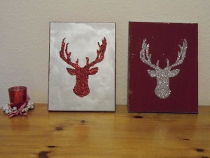 This is a tutorial for how to recreate your own Christmas stag head wall hangings.
