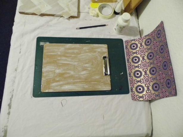 Cover the clipboard in pva glue.